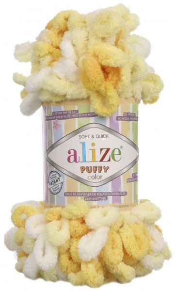 Пряжа Alize Puffy Color, 100% микрополиэстер, 100гр/9м