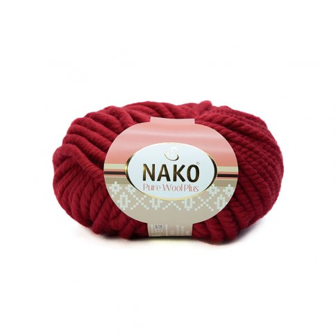 Пряжа Nako Pure Wool Plus 100% шерсть, 100г/30м