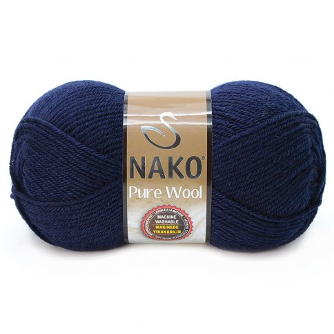 Пряжа Nako Pure Wool 100% шерсть, 100г/220м