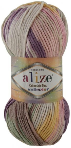 Пряжа Alize Cotton Gold Plus Multi Color, 55% хлопок, 45% акрил, 100гр/200м