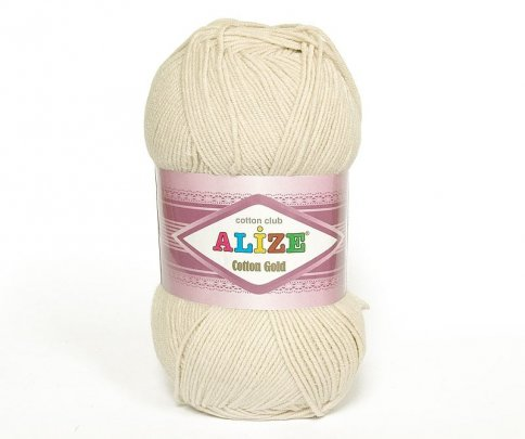 Пряжа Alize Cotton Gold, 55% хлопок, 45% акрил, 100гр/330м