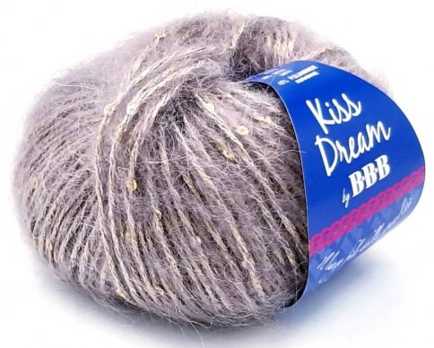 Пряжа BBB Filati Kiss Dream 40% мохер, 15% шелк, 45% полиамид, 25г/55м