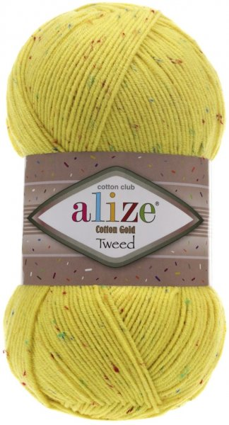 Пряжа Alize Cotton Gold Tweed, 57% хлопок, 40% акрил, 3% полиэстер, 100гр/330м