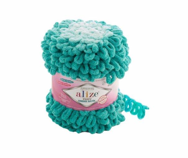 Пряжа Alize Puffy Ombre Batik, 100% микрополиэстер, 600гр/55м, арт. APOM ALIZE | Купить онлайн на Mybobbin.ru