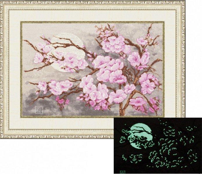 Цветок сакуры вышивка