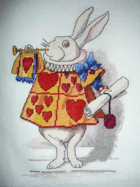 Белый кролик схема для вышивки