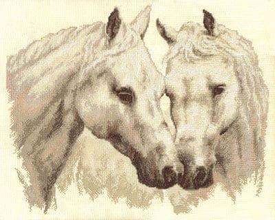 Вышивки крестом лошади пара