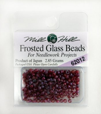 Бисер Frosted Glass Beads, цвет 62012 фото 8675