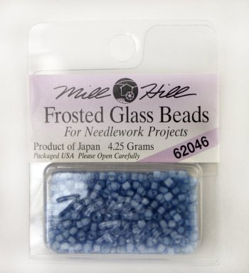 Бисер Frosted Glass Beads, цвет 62046 фото 8669