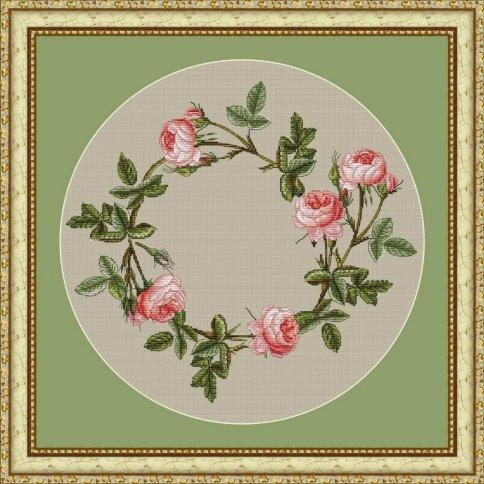 Венок из роз вышивка схема 102